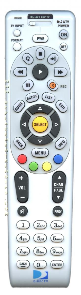 DirecTv RC66X (p n: RC66X) DIRECTV Remote Control (New) by DirecTV