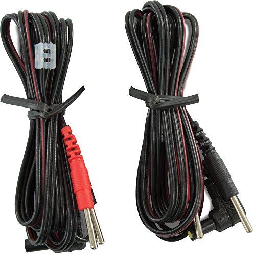 "Premium Lead Wiresfor tens massager, 45"", Black, 2/Pack, 5 Packs"