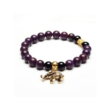 ELYA Elephant Charm Agate Natural Stone Bracelet