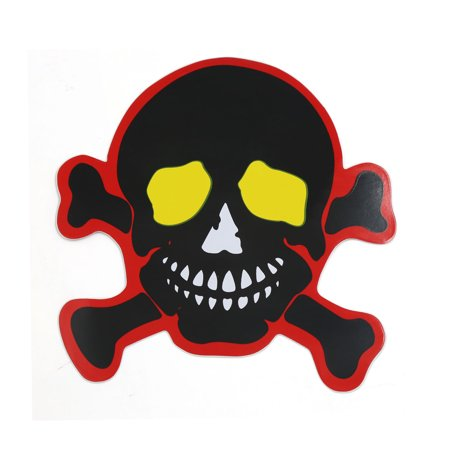 Devil Skull Head Shaped Sticker Decor Car Body Window Door Stickers Decals (Skull Head Car)