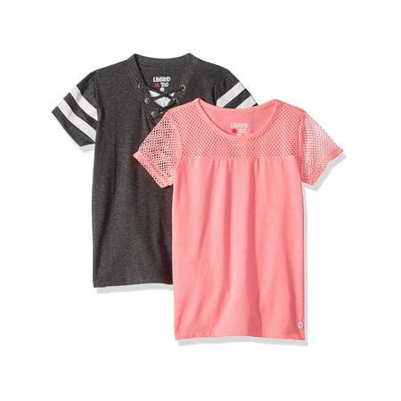 - Varsity Stripe and Mesh Tees, 2-Pack (Little Girls & Big Girls)