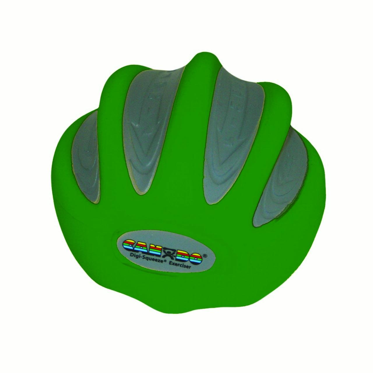 CanDo Digi-Squeeze Hand Exerciser, Medium, Green, Moderate