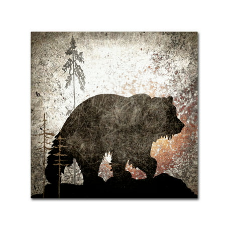 Trademark Fine Art 'Calling Bear' Canvas Art by