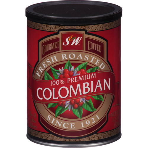 S&w Colombian Coffee, 11.5 Oz, (pack Of