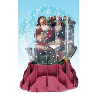 Up With Paper Fireplace Santa Pop-Up Christmas Card