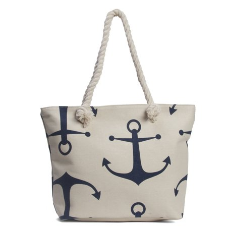 Gravity Travels Anchors Wide Beach Tote Bag