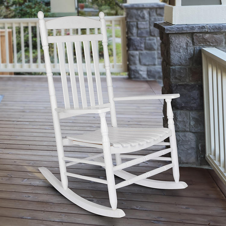 Shine Company Rhode Island Porch Rocker - White