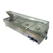 4-Pan Buffet Bain-Marie Food Warmer Steam Table 1500W 110V Restaurant Warming� by Food Warmers