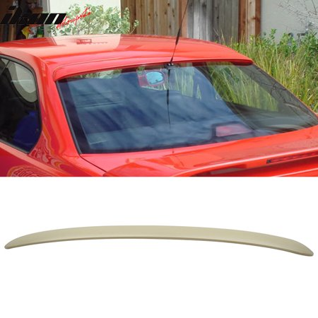 Compatible with 92-98 BMW 3 Series E36 Coupe AC Style Unpainted ABS Roof Spoiler