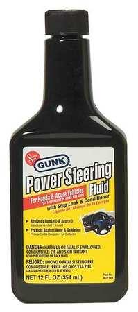 Gunk M2714H 6 Power Steering Fluid, 12 oz., PVC Bottle by Gunk