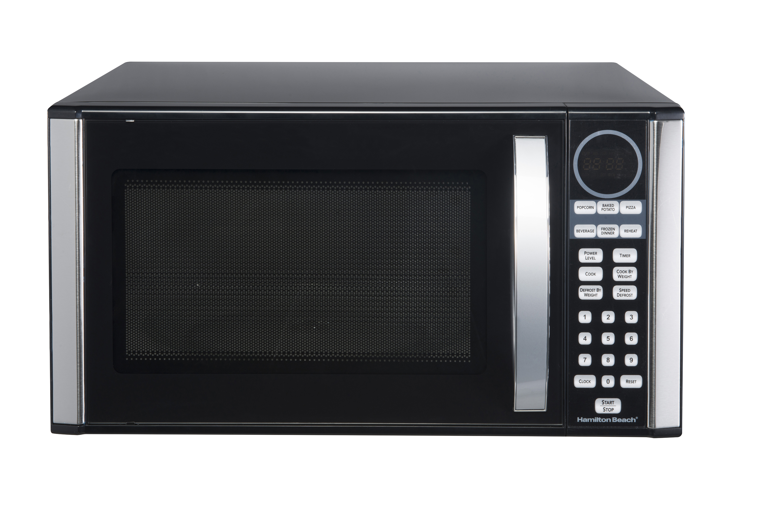 Microwave Oven With Grill Small Portable Stainless Steel 1000w Black