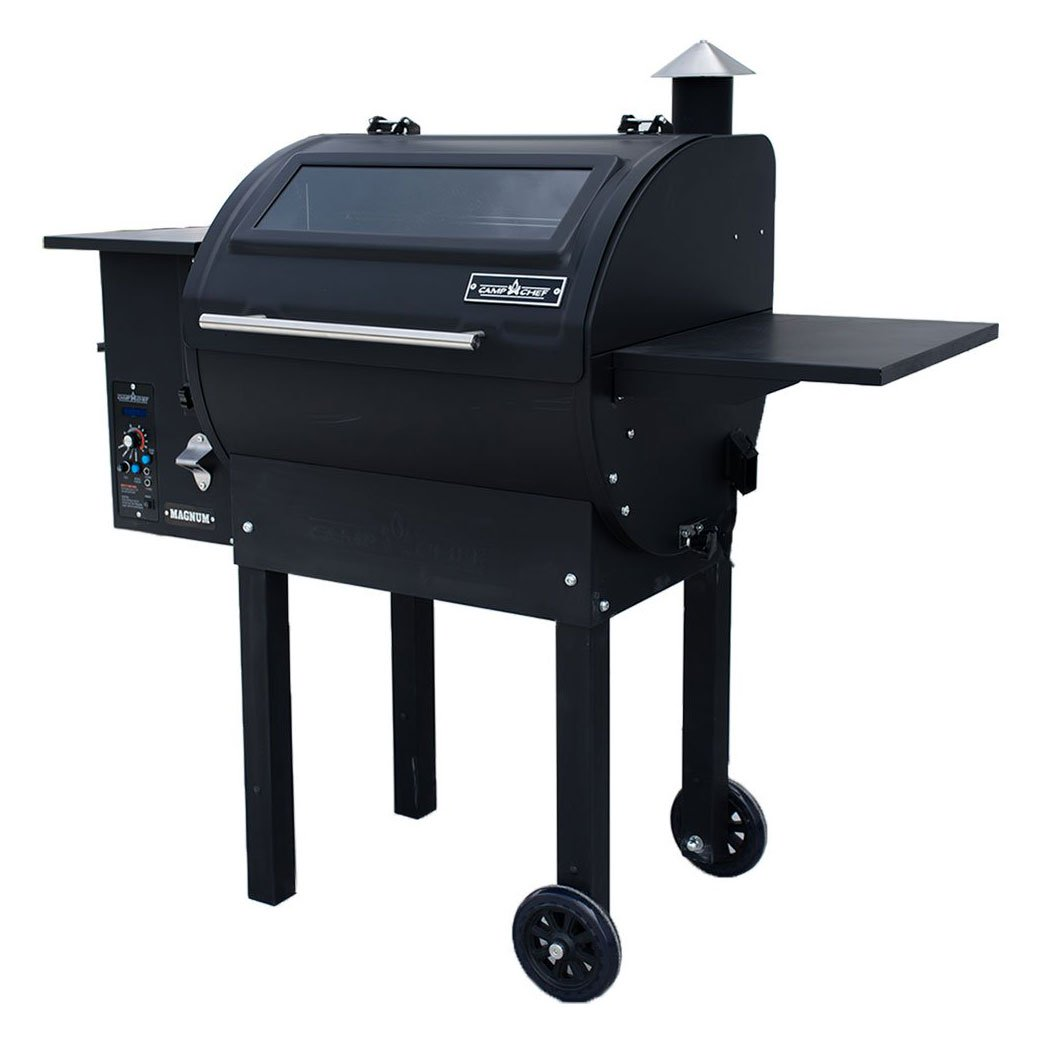 Camp Chef Magnum Dual-Function Wood Fired Pellet Grill & Smoker Combo Duo, Black
