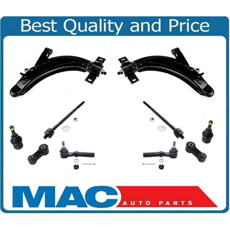 Forester Impreza 10Pc Kit Lower Control Arm Ball Joints Tie Rods Sway
