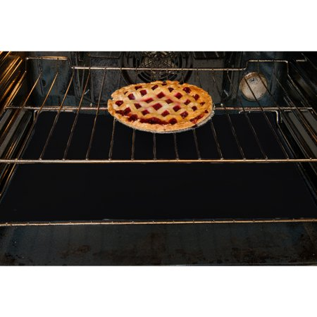 Evelots 3 Oven Liners Non Stick,Keep Gas,Electric & Toaster Ovens Clean, Black