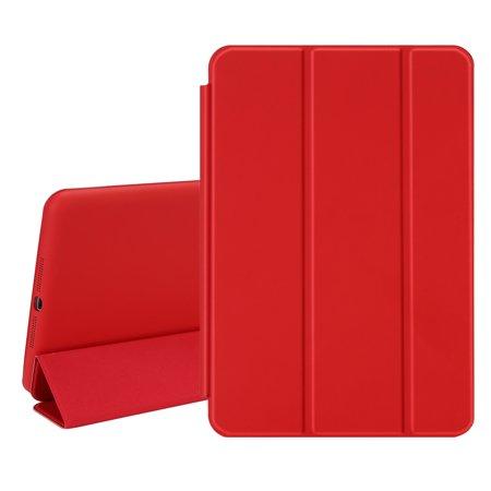 TKOOFN Ultra Thin One Single Piece Design PU Leather Smart Cover Case [Wake/Sleep Function] for Apple iPad Mini 1 2 3 ()