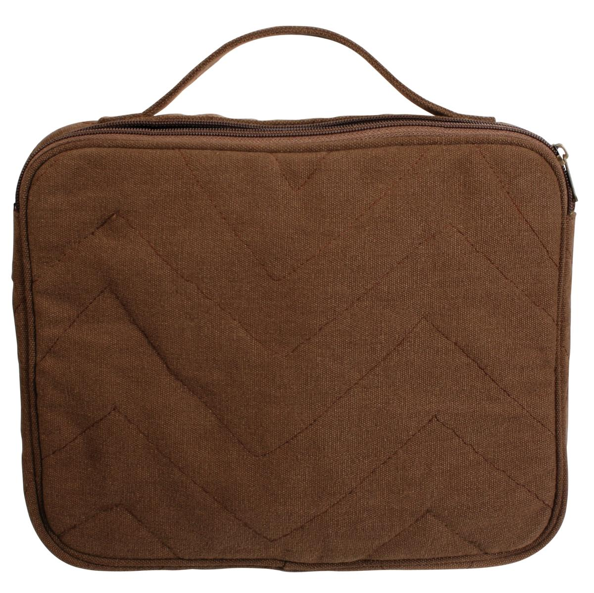 Black Vintage Plain Canvas I-Pad & Netbook Military Sleeve Bag