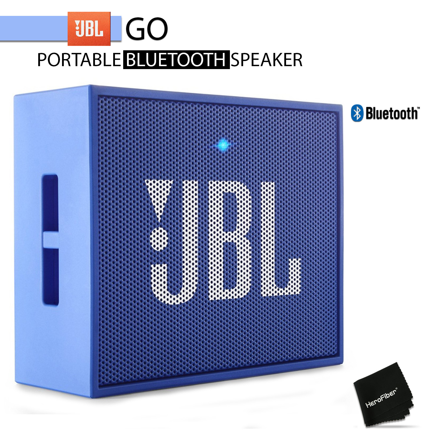 JBL GO Portable Bluetooth Speaker (Blue) w/ Rechargeable Battery and Built in
