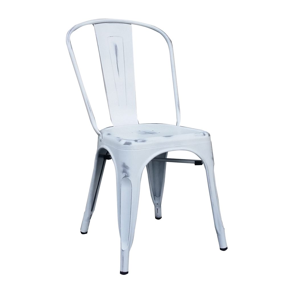 Anisha Weathered White Metal Dining Chair Set Of 4