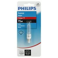 Philips 415562 - BC75Q/CL 120V 12/1PK Screw Base Single Ended Halogen Light Bulb