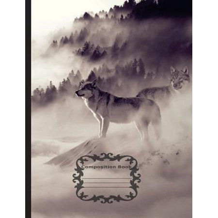 White Wolf, Mystical Winter - Composition Notebook : Unruled Blank Sketch Paper, 7.44 X 9.69(18.9 X 24.61 CM) 108 Pages.