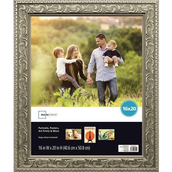 mainstays 16x20 silver poster frame. Black Bedroom Furniture Sets. Home Design Ideas