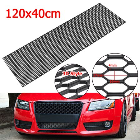 Universal 47'' x 16'' Front Bumper Honeycomb Hexagon Mesh Grille ABS Plastic US ()