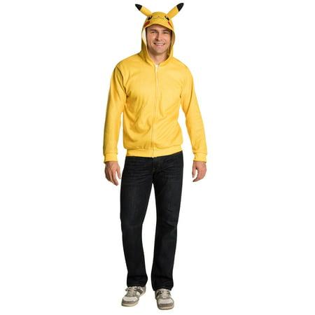 Pokemon Adult Pikachu Hoodie (Pikachu Hoodie For Sale)