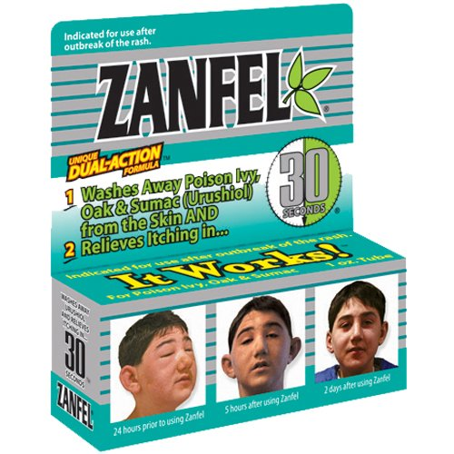 ZANFEL Relieves Poison Ivy, Oak, Sumac, Rash, Outbreak 1oz Each