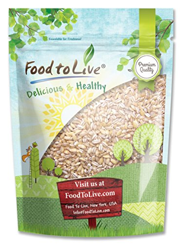 Organic Pearl Barley, 5 Pounds – Hulled, Kosher, Non-GMO, Organic, Raw, Sproutable, Vegan – by Food to Live