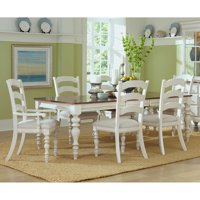 Hillsdale Furniture Pine Island 7-Piece Dining Set, with Ladder Back Chairs