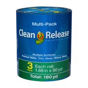 Duck Brand Clean Release Painter's Tape, Blue, 1.88