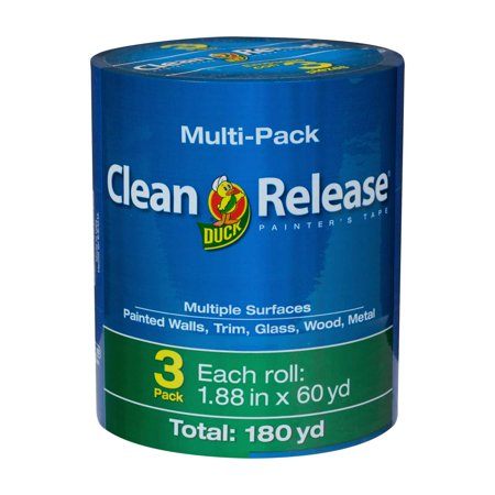 Duck Brand Clean Release Blue Painters Tape, 1.88 in. x 60 yd., 3-Pack
