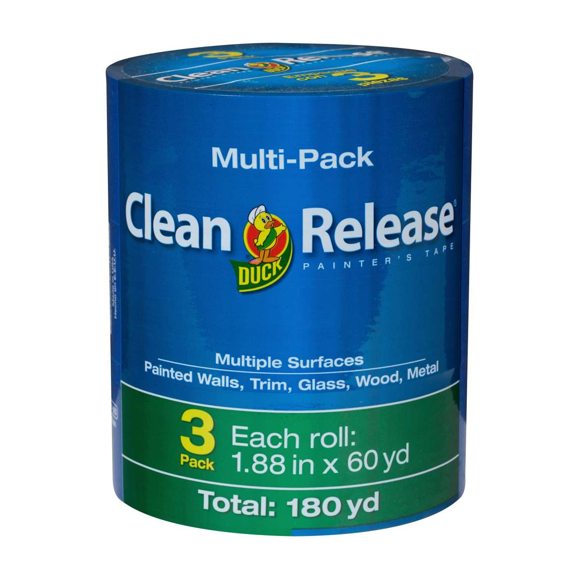 "Duck Brand Clean Release Painter's Tape, Blue, 1.88"" x 60 yard 3-Pack"