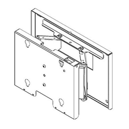 Chief Mounts CHF-MPT6000B 9 in. Flat Panel Swing Arm Wall Mount without Interface Swing Arm Extension Flat Panel