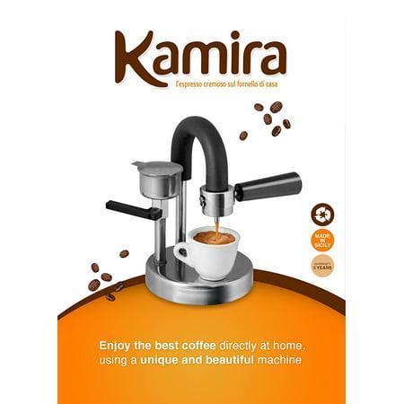 KAMIRA Moka Express 1/2 Cups Stovetop Espresso Maker, MADE IN ITALY!