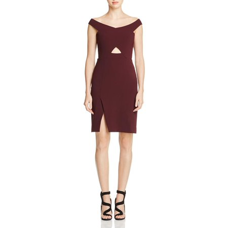 a22b7e989f3f Parker - Parker Womens Rory Off-The-Shoulder Crepe Party Dress ...