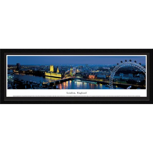 London, England (Ferris Wheel) - Blakeway Panoramas Print with Select Frame and Single Mat