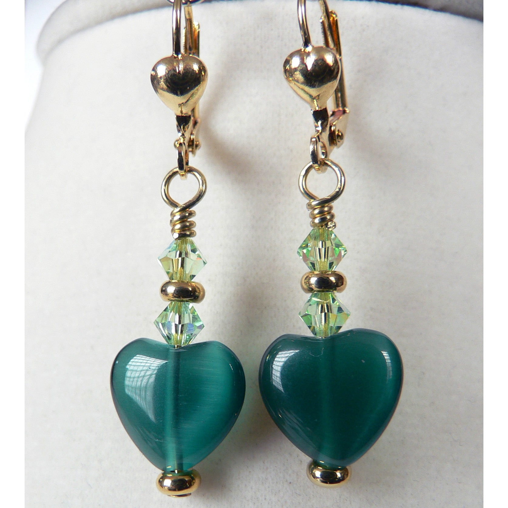 Palmtree Gems Shannon' Heart Earrings