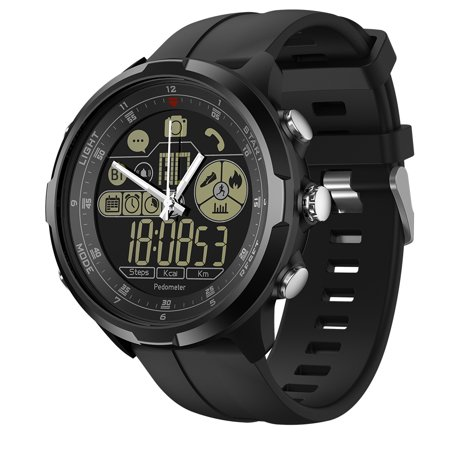 Zeblaze VIBE 4 HYBRID Smart Watch Remote Camera 1.24-Inch FSTN Full View Display Screen Watch BT4.0 5ATM Waterproof Sports Luminous Multifunctional Men Smartwatch for iOS 7.0 / Android 4.3 and above