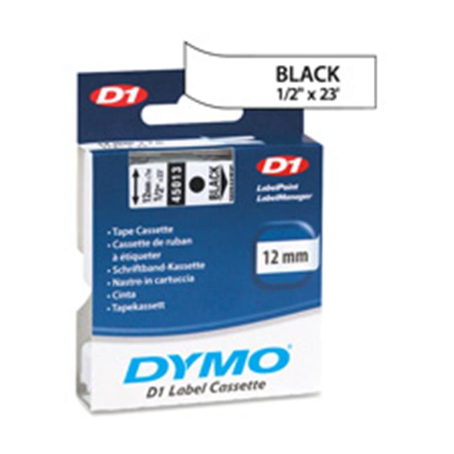 Dymo Corporation DYM53710 DYMO D1 Electronic Tape- 1in.x23ft. Size- Black-Clear