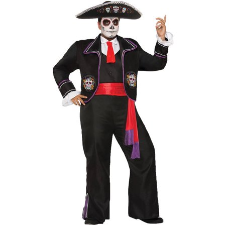 Day of Dead Mariachi Man Halloween Costume - Day Of The Dead Male
