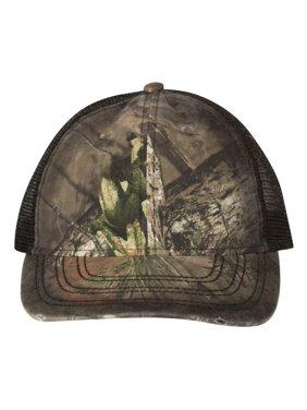 OSC100M Outdoor Cap Headwear Oil Stained Camo Trucker Cap