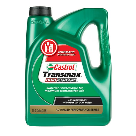 - Castrol Transmax High Mileage Automatic Transmission Fluid, 1 Gallon Bottle