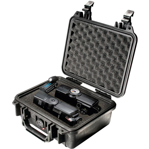 Pelican Products Equipment Case with Foam: 9.5'' x 10.63'' x 5''