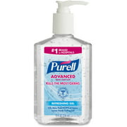 Purell Advanced Instant Hand Sanitizer with Pump Dispenser, 8 Fluid Ounce