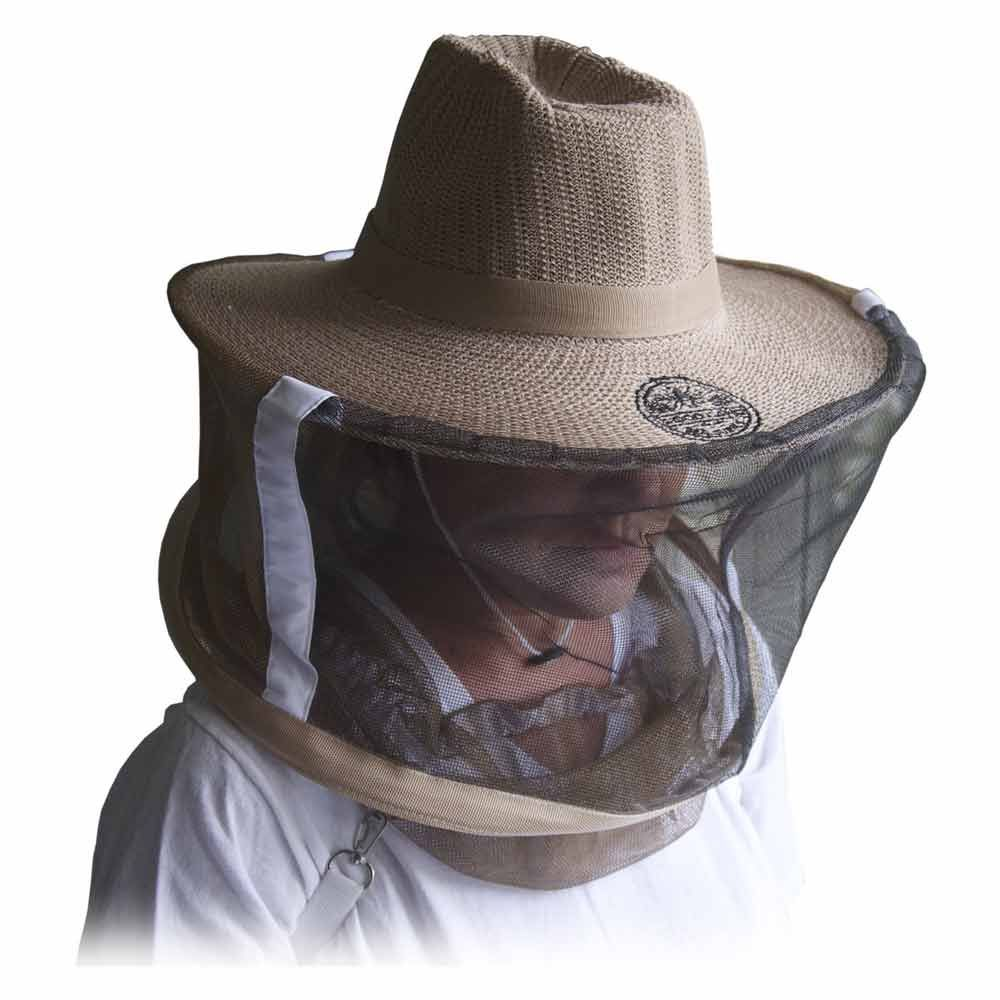 Goodland Bee Supply GLVEIL-LG Natural Cotton Beekeepers Medium / Large Hat Veil Bee Protection During Beehive