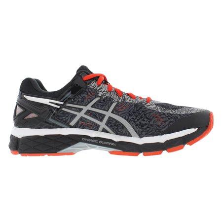 Asics Men's Gel Kayano 22 Lite Show Carbon Silver Cherry Tomato Ankle High Running Shoe 8.5M