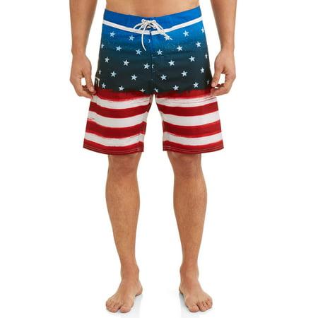 Walmart: Men's Americana Flag Stretch Boardshort Only $3