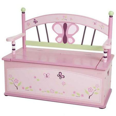 Wildkin Wildkin Kids Sugar Plum Bench Seat with Storage (Sugar Plum Toy Box)