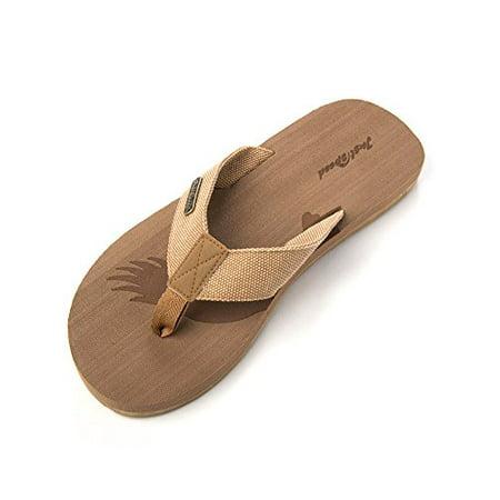 Just Speed Mens Eagle Patriot Flip-Flops Slide on Sandals Classic Cool Casual Dressy Fashion Everyday (12, Beige) - Dressy Flip Flops